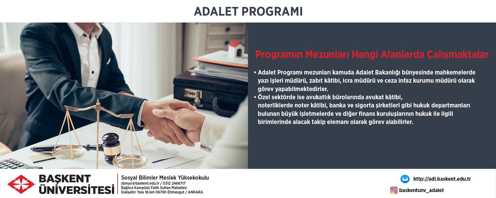 adalet programi baskent universitesi